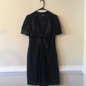 Love moschino dark blue front bow dress w POCKETS